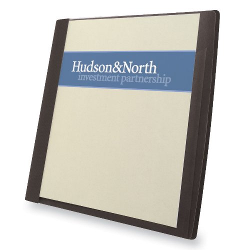 """Gbc Frosted Report Covers With Pocket - Letter - 8.50"""" X 11"""" - 30 Sheet Capacity - Black - 5 / Pack (GBC71120)"""