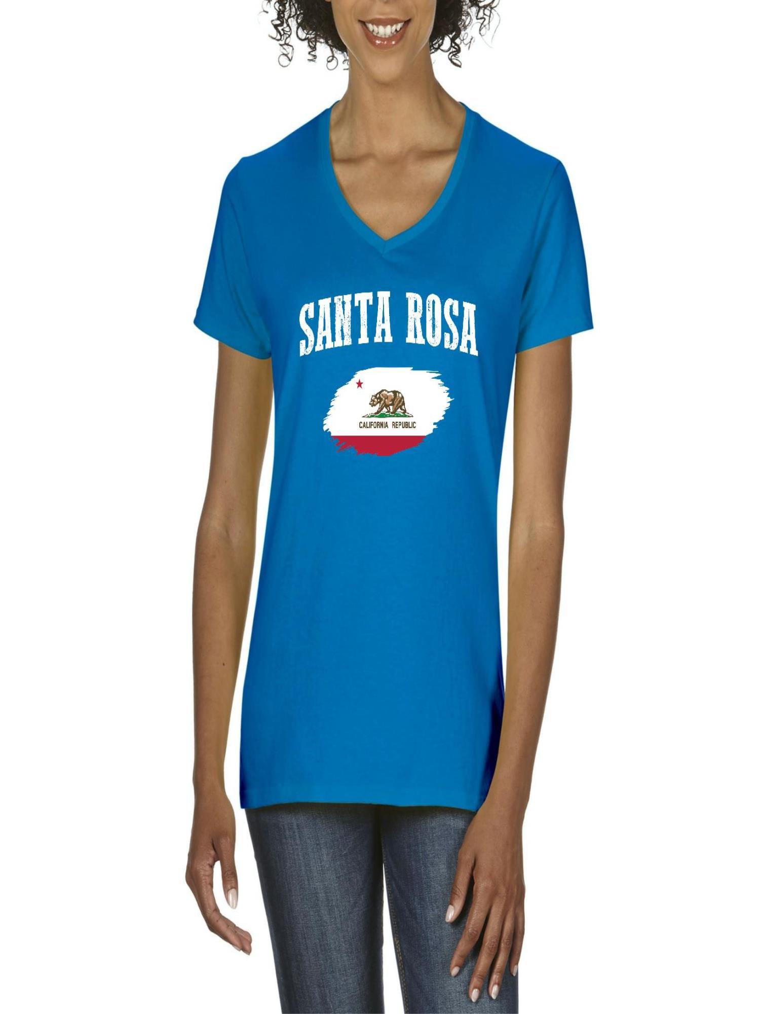 Santa Rosa California Women V Neck T Shirt Walmart