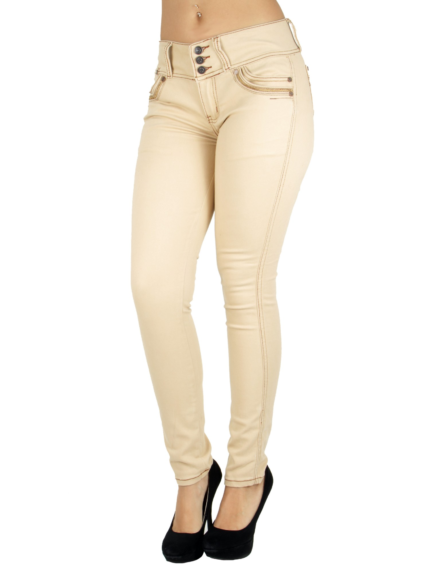 Colombian Design, Butt Lift, Levanta Cola, Mid Waist Sexy Skinny Jeans