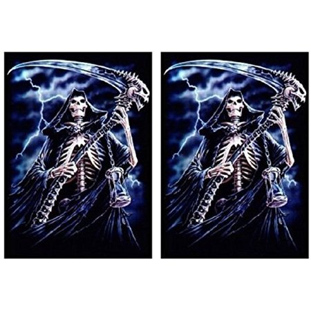 REAP IT - 100 Shuffle-Tech GLOSS Finish Reaper Sleeves by MAX PRO (fits Magic / MTG Cards) ()
