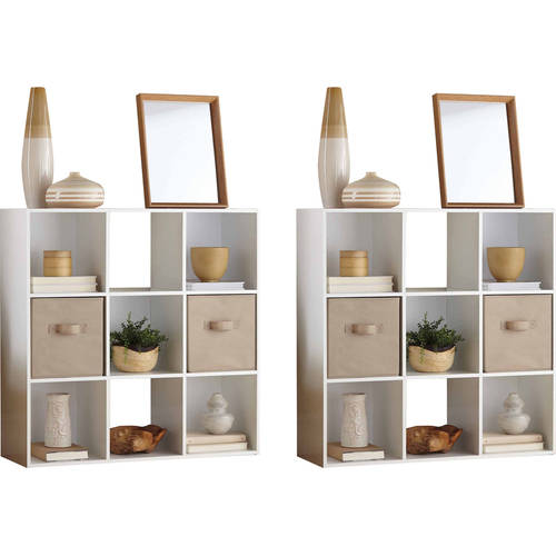Mainstays 9 Cube Organizer, Set of 2, (Mix and Match)