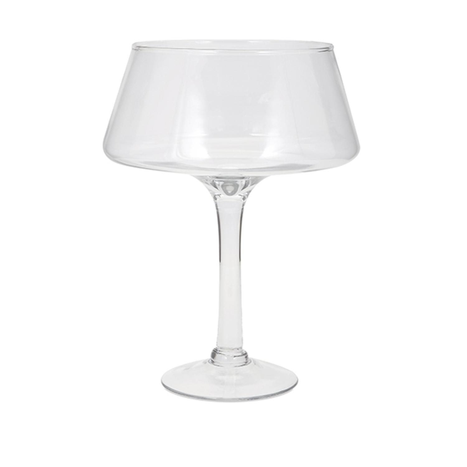 "15.25"" Large Henriette Clear Transparent Decorative Glass Table Top Pedestal Bowl by CC Home Furnishings"