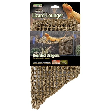 REP701 Lizard Lounger, 100% Natural Seagrass Fibers For Anoles, Bearded Dragons, Geckos, Iguanas, and Hermit Crabs Triangular 14 x 14 Inches.., By Penn (Iguana Bearded Dragon)