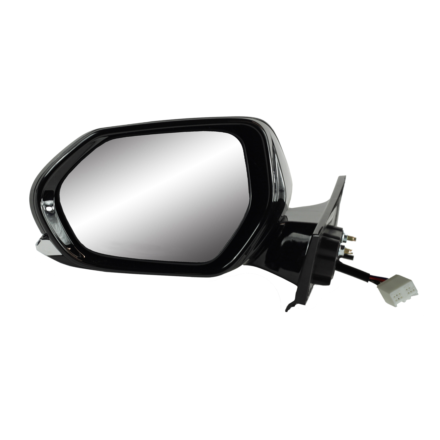 Heated Power Foldaway Does not Apply to Prius C Hatchback Fit System Driver Side Mirror for Toyota Prius Hatchback Black w//PTM Cover