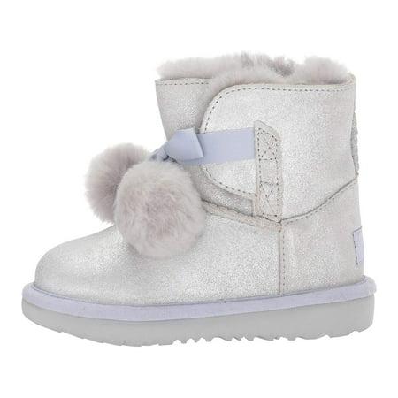 Ugg Sale Girls (UGG Kids K Gita Metallic Pull-on Boot, Gold,  Size Toddler)