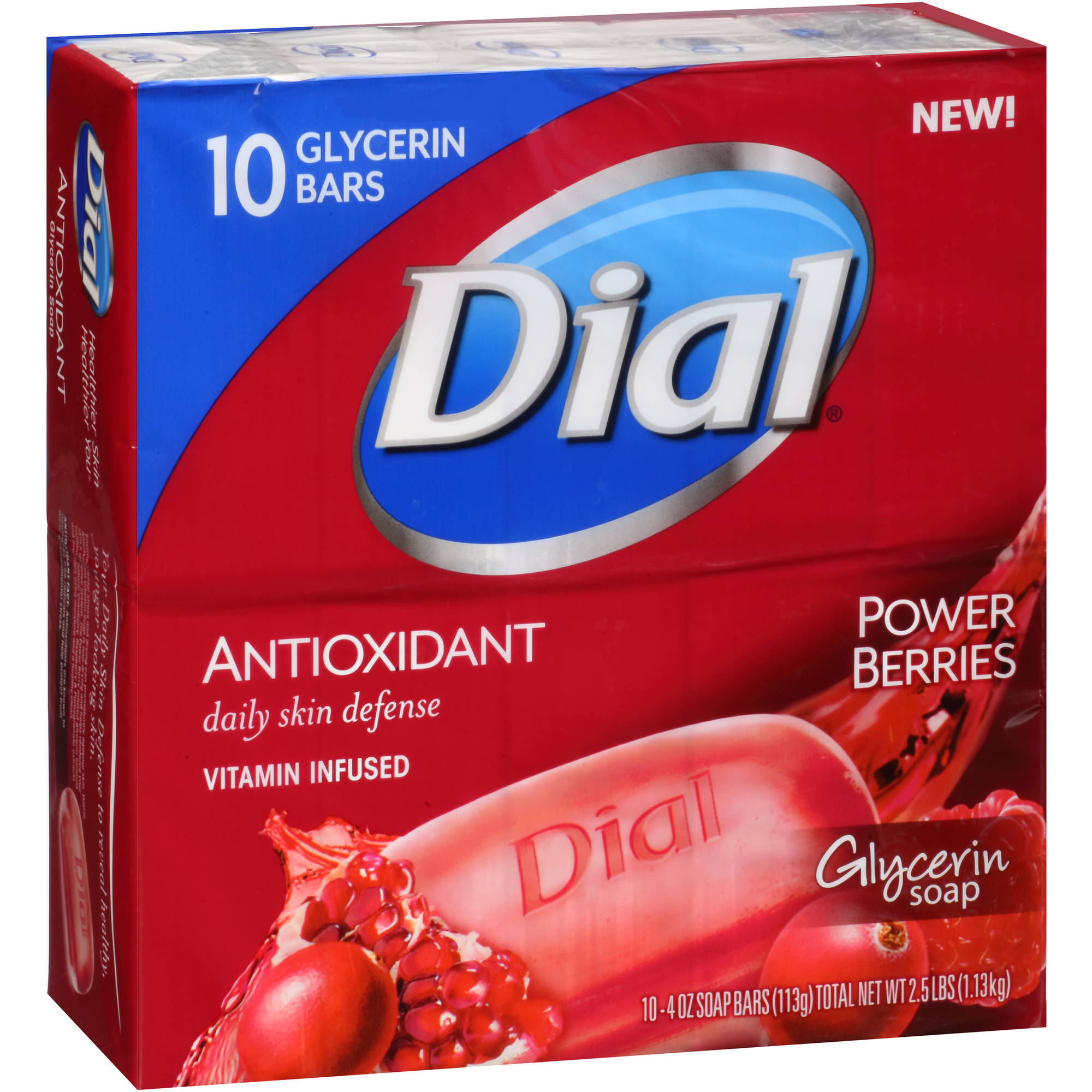 Dial Antioxidant Power Berries Glycerin Soap, 4 oz, 10 count