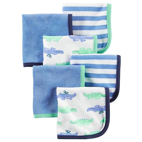 Carter's 6 Pack Alligator Print Washcloths by Carter%27s
