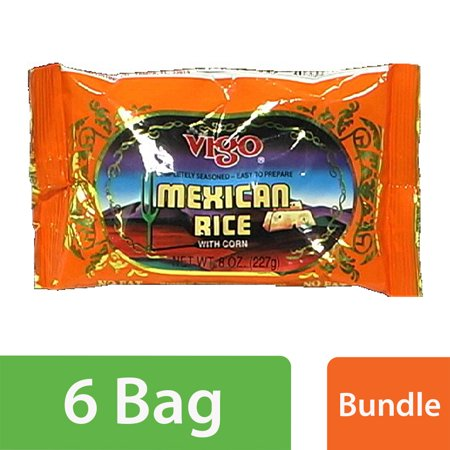 (6 Pack) Vigo Mexican Rice, 8 oz Pouches (Best Mexican Rice Mix)