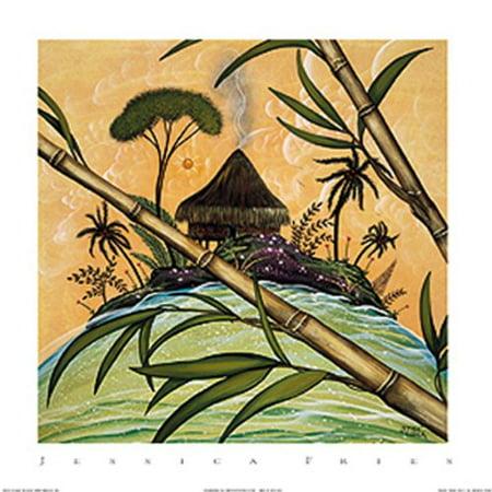 South Seas Hut II by Jessica Fries 7x5 (card) Poster (South Seas Hut)