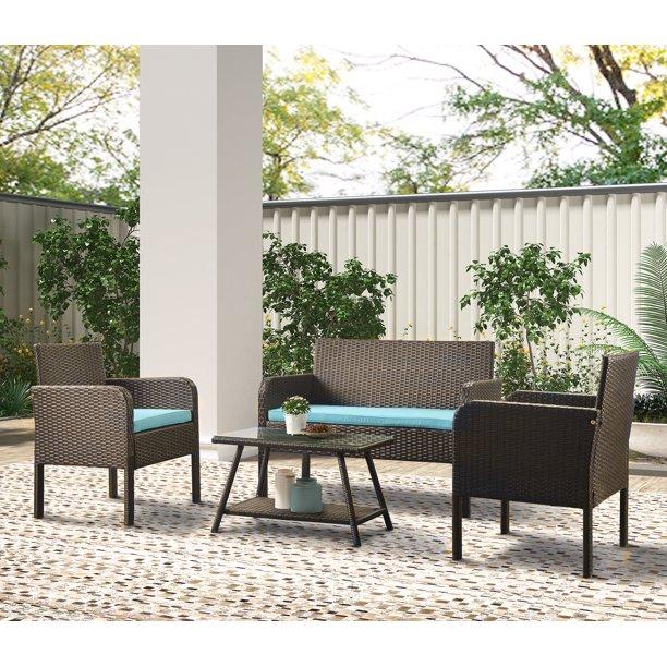 Piece Wicker Patio Furniture Set, Stylish Patio Furniture