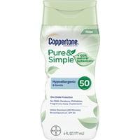 Coppertone Pure & Simple Adult SPF 50 Lotion, 6 fl oz