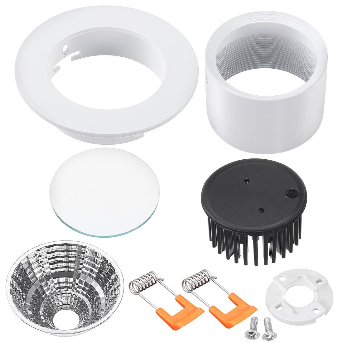 Unique Bargains 4pcs 90mm Dia 5W COB Downlight Housing Recessed Spotlight Lamp Shell White - image 1 de 5