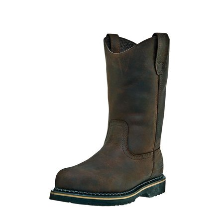Men Wellington Boots - McRae Industrial Work Boots Mens Wellington Ruff Rider Brown MR85144