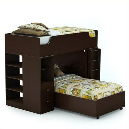 Logik Twin Loft Bed System (Chocolate)