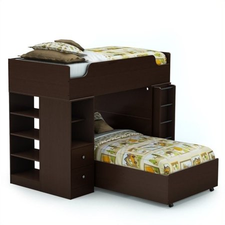 South Shore Twin Loft Bed System Chocolate