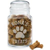 Personalized Pet Treats Glass Jar