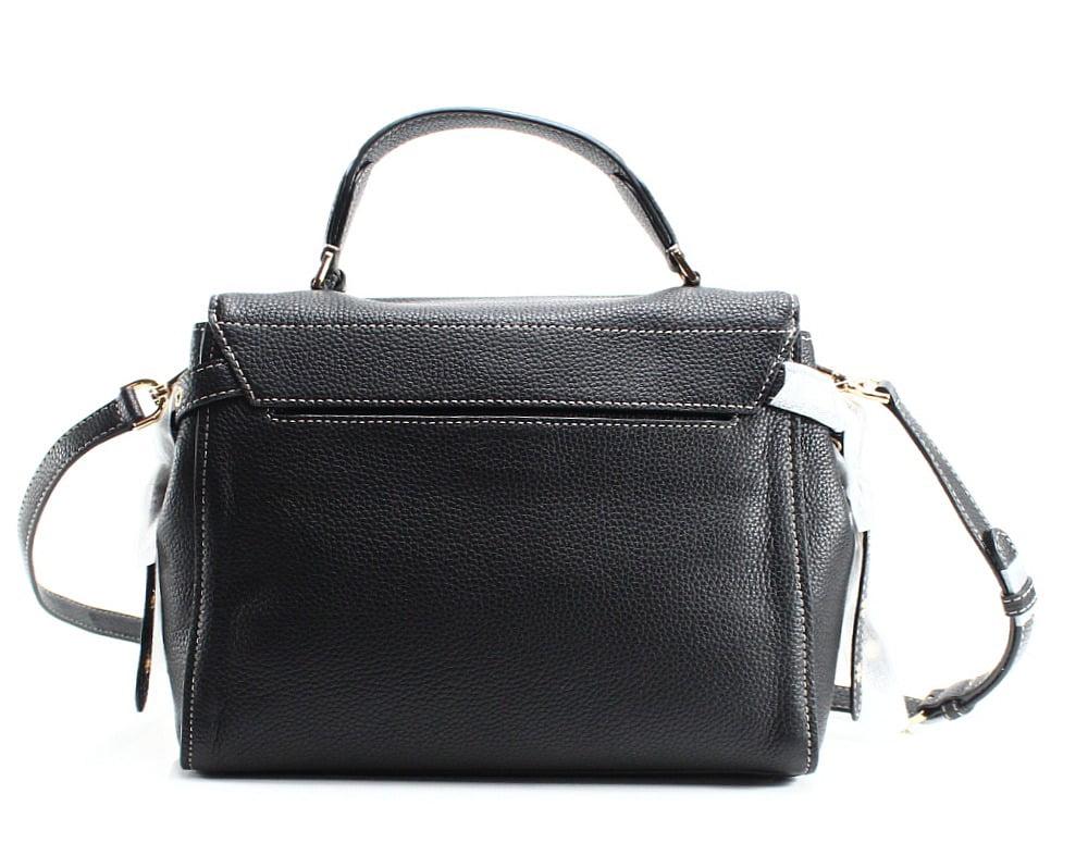 2aa6547eb307 michael kors - Michael Michael Kors Bristol Black Pebbled Leather Medium  Top Handle Satchel Bag - Walmart.com