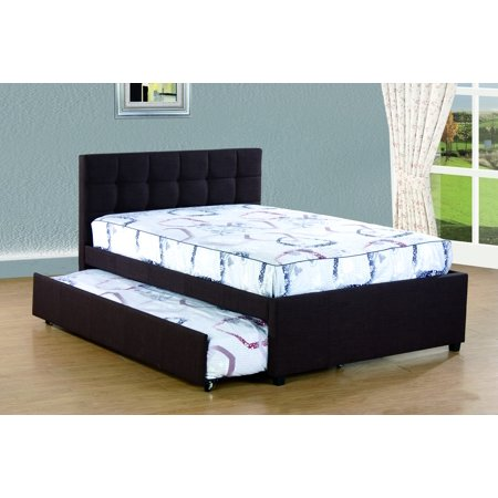 Alex Trundle Twin Bed - Best Quality Full Platform Bed with Twin Trundle Bed, Multiple Colors