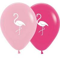 "10 Flamingo Assorted Colors Balloon 11"""