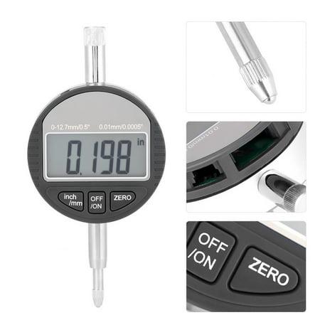 Yosoo Indicator Gauge,Digital Probe Indicator Gauge 0-12.7mm/0.5'' Clock DTI 0.01mm/0.0005'' Test,Probe Indicator Gauge - image 3 of 9