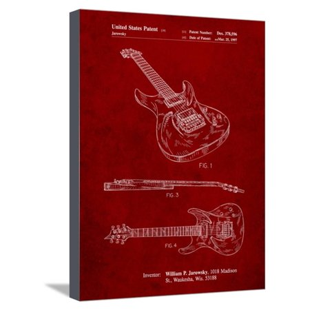 Ibanez Pro 540Rbb Electric Guitar Patent Stretched Canvas Print Wall Art By Cole Borders