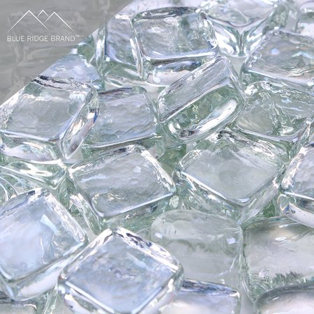 "Image of ""Blue Ridge Brand™ Reflective Fire Glass Cubes - Professional Grade Fire Pit Glass - 1"""" Reflective Fire Pit Glass Squares"""