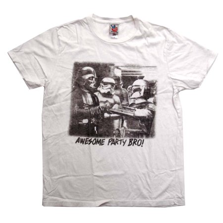 Star Wars The Dark Side Awesome Party Junk Food Vintage Style Adult T-Shirt Tee (Star Wars Food Ideas)