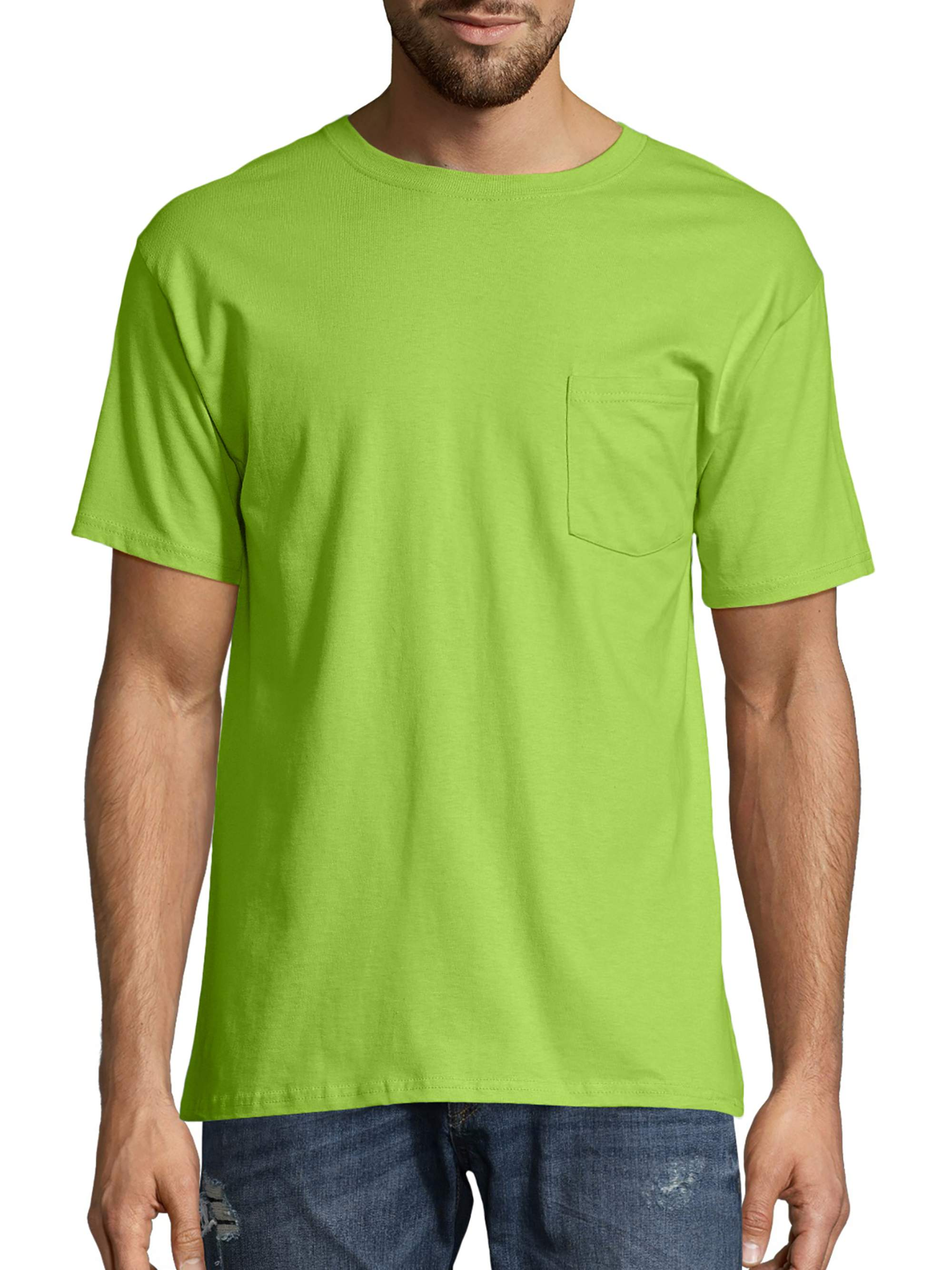 3fa5e8534 Hanes - Hanes Big Men's Tagless Short Sleeve Pocket T-Shirt - Walmart.com