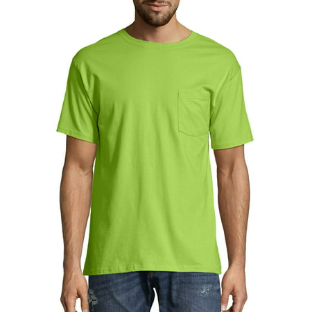 Hanes Big Men's Tagless Short Sleeve Pocket T-Shirt