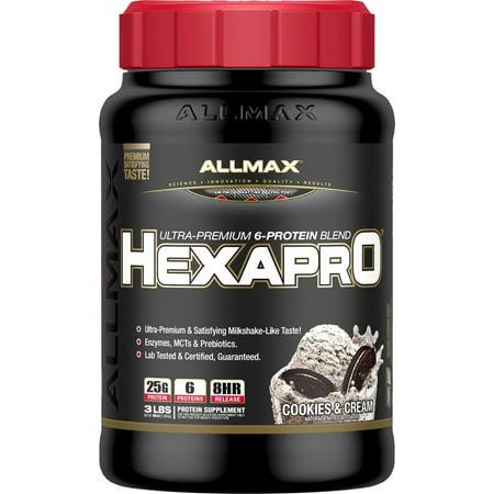 AllMax Nutrition - Hexapro Ultra-Premium 6-Protein Blend Cookies & Cream - 3