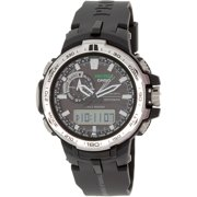 Men's Pro Trek PRW6000-1 Black Resin Quartz Watch