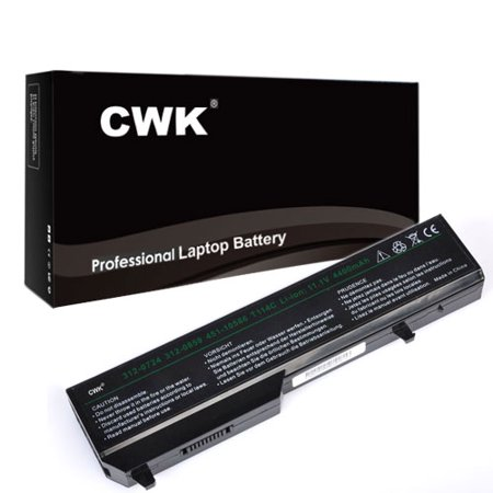 CWK Long Life Replacement Laptop Notebook Battery for Dell Vostro 1320 1510 1520 2510 T112C T114C T116C N950C N956C 1310 1320 1510 1520 2510 T116C 1310 1320 1510 1520 2510 XPS