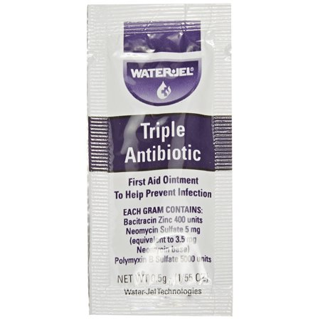 Waterjel 2120 Bacitracin Zinc Triple Antibiotic Ointment, 0.5gm Packet (Pack of 144), Manufactured by Waterjel By Water Jel (Water Jel Antiseptic Spray)