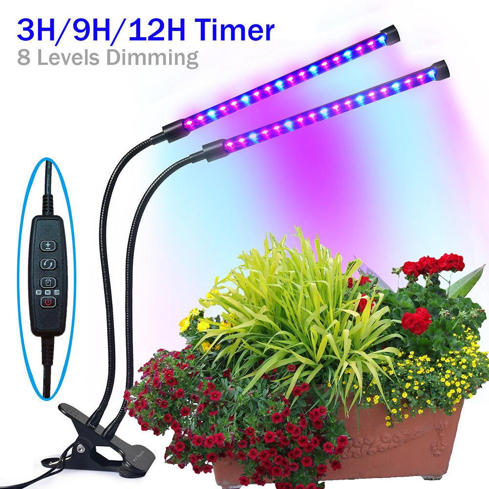 Auto On Off Timing Function Led Plant Grow Light 5v 18w Led Dual