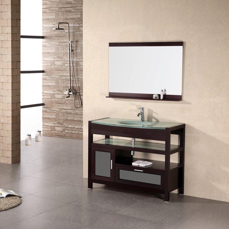 """Bathroom Sink Vanity, 43"""" Single Drop-In Sink, Milan"""