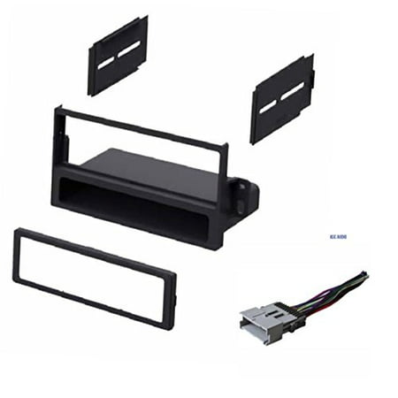 Car Stereo Dash Kit and Wire Harness for Installing a new Single Din Radio for 2004-2005 Saturn Ion and Vue (Vue Stereo)