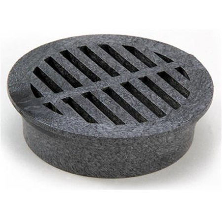 11 4 in. Black Round Structural Foam Polyolefin Grate ()