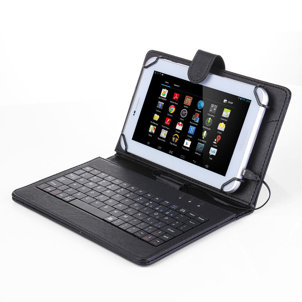 "For Amazon Kindle Fire HD 8 8.0""  Tablet Flip PU Leather Folio Keyboard Case Stand Cover"
