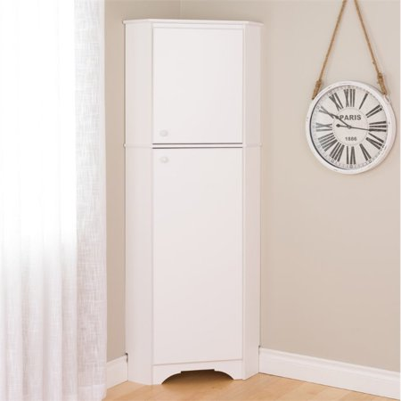 Prepac Elite Tall 2-Door Corner Storage Cabinet, (Lower Corner Cabinet)