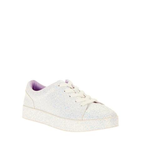 Skater Girl Shoes - Wonder Nation Girls' Glitter Casual Court Sneaker
