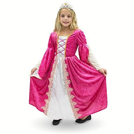 Boo! Inc. Regal Queen Princess Pink Victorian Dress Premium Halloween Costume