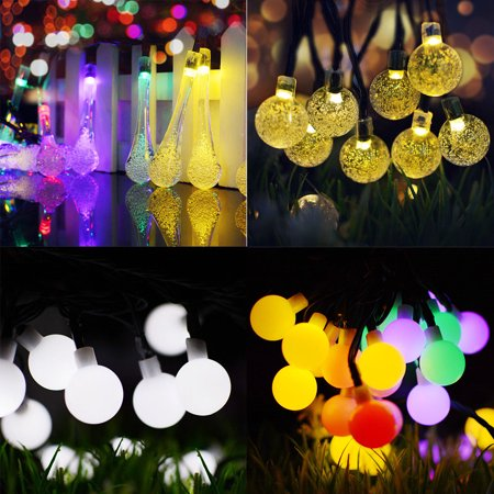 Solar String Light 23 ft 50 LED Outdoor String Lights, Waterproof Decorative String Lights for Patio, Garden, Gate, Yard, Party, Wedding, Christmas (Led Decorative Lights For Weddings)