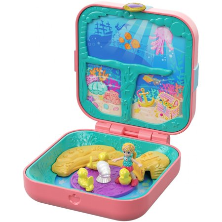 Polly Pocket Hidden Hideouts Mermaid Cove with 3 Hidden Surprises
