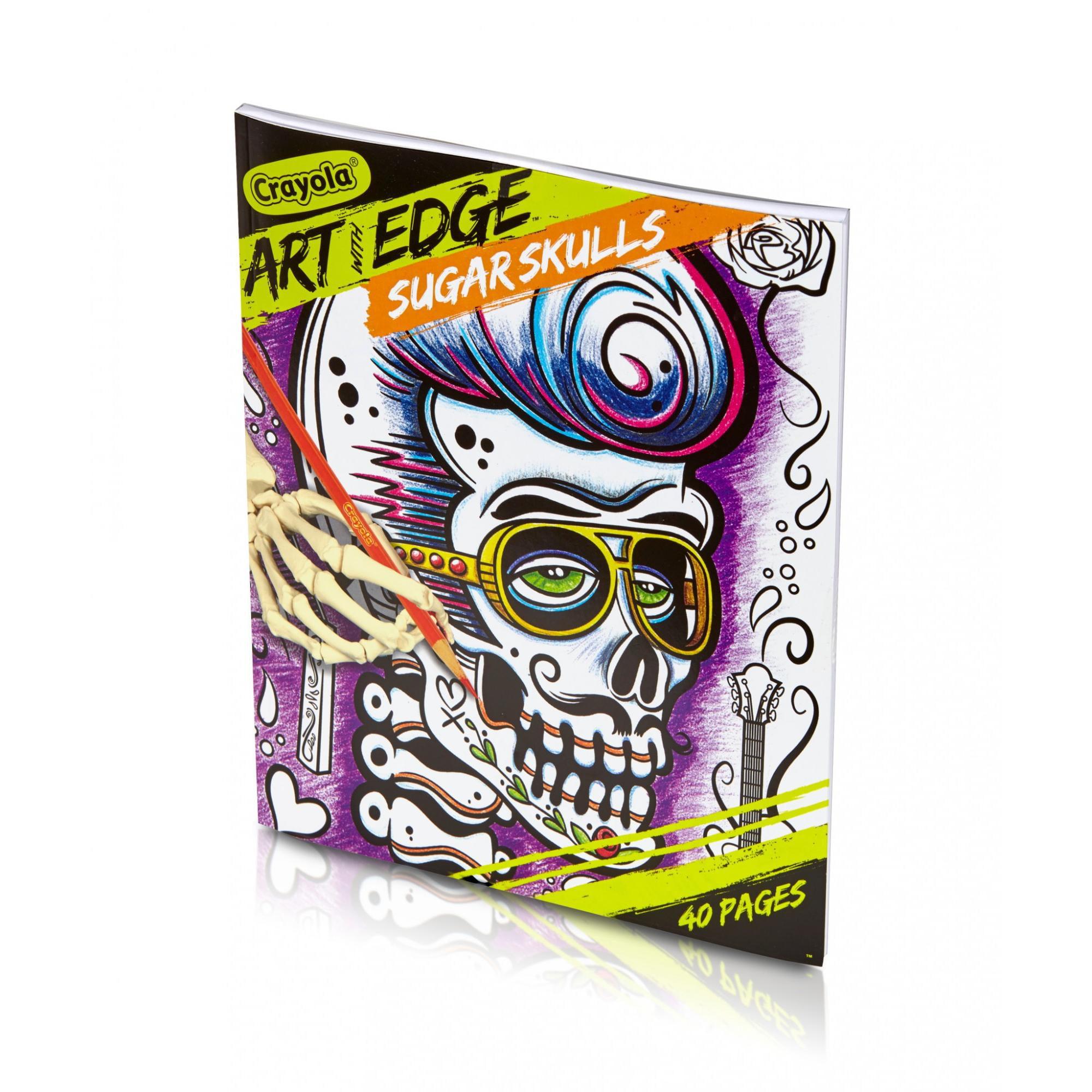 - Art With Edge Sugar Skulls Adult Coloring Book - Walmart.com