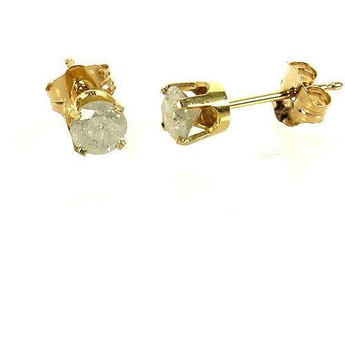 1/2 Carat T.W. Round Diamond 14kt Yellow Gold Stud Earrings