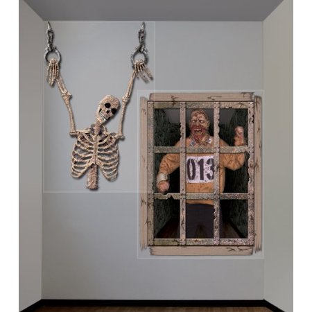 Halloween Giant Gruesome Wall Decorations, Black/Grey, [17 Pieces] - Product Description - Includes (2) Plastic Wall Decorations. Each Measures 48
