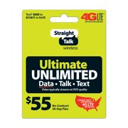Straight Talk Ultimate Unlimited Prepaid Phone Plan, for No