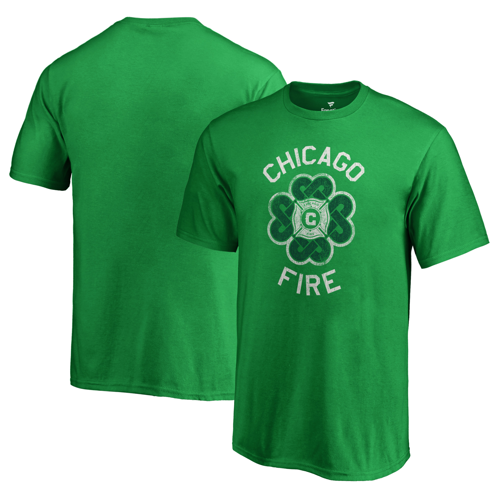 Chicago Fire Fanatics Branded Youth St. Patrick's Day Luck Tradition T-Shirt - Kelly Green