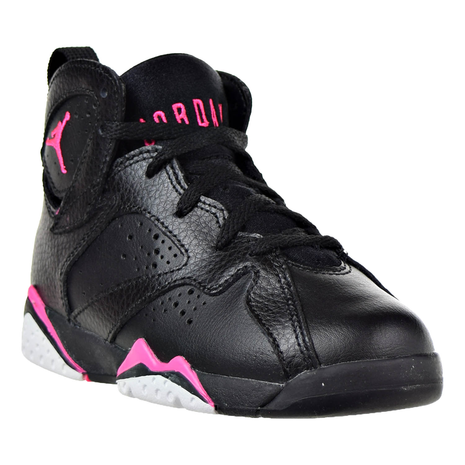 Jordan 7 Retro GP Little Kids (PS) Shoes Black/Hyper Pink 442961-018