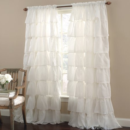 Gypsy Crushed Voile Cascading Layer 60   X 84   Window Curtain Single Panel